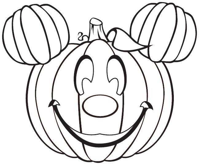 Coloriage citrouille mickey gratuit imprimer - Citrouille halloween dessin ...