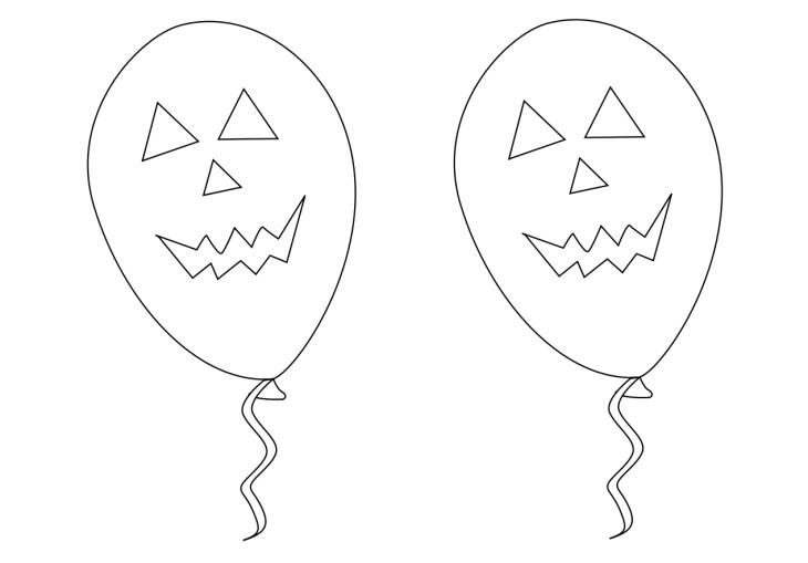 Coloriage halloween ballon
