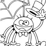 Coloriage araignée marrante