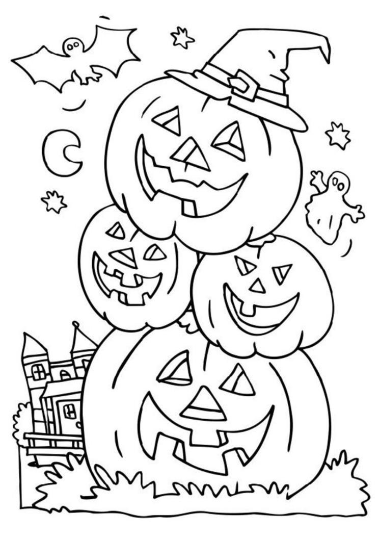 Coloriage dessin halloween gratuit imprimer - Dessin halloween a imprimer ...