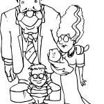 Coloriage famille Frankenstein