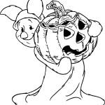 Coloriage halloween porcinet