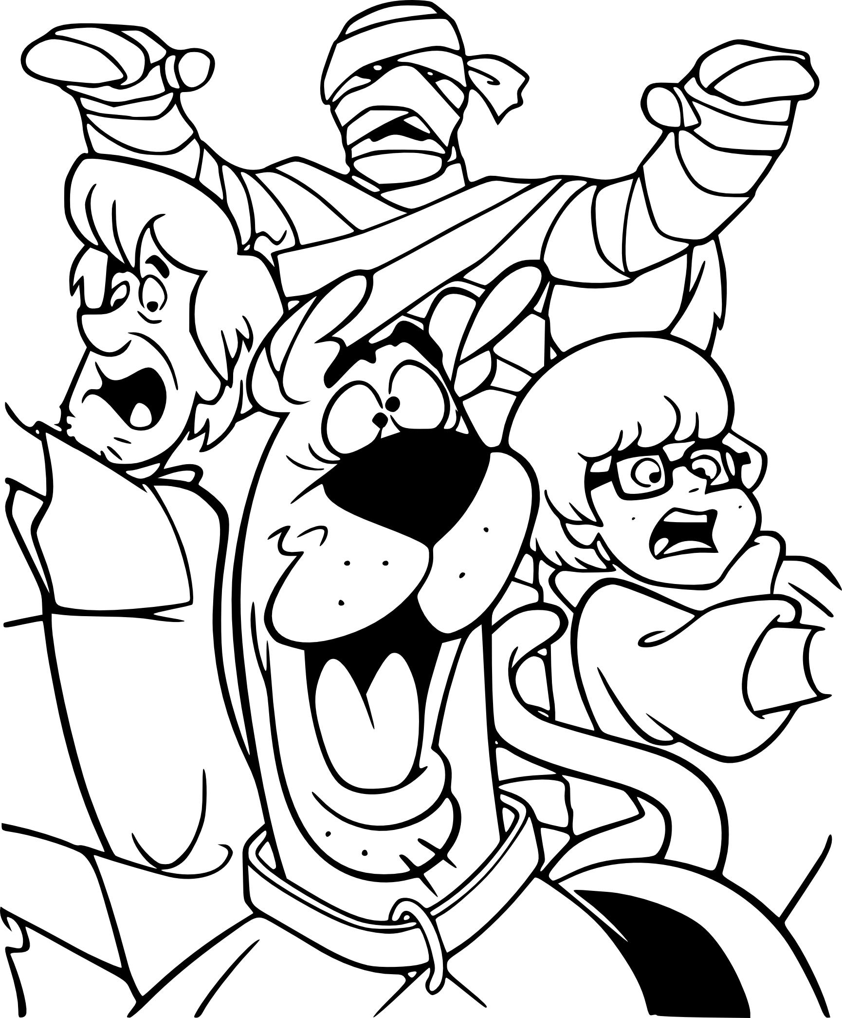 Coloriage Scooby-Doo Halloween à imprimer