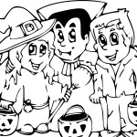 Coloriage famille halloween