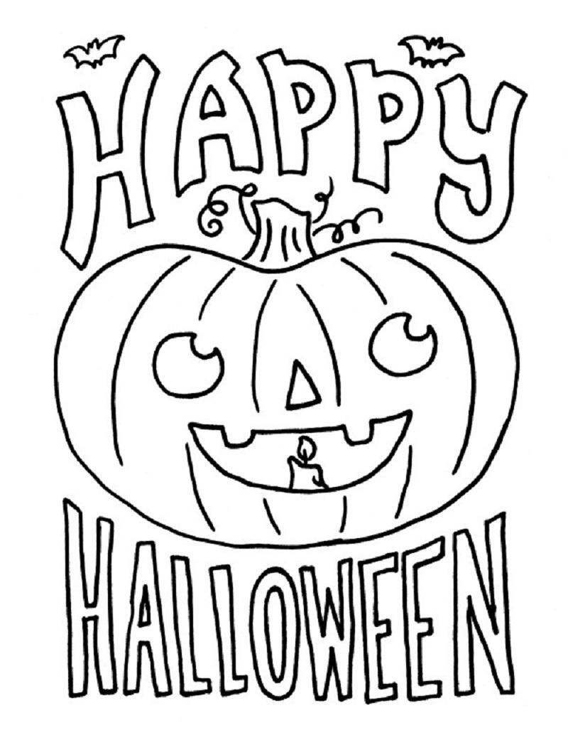 Dessin Joyeux Halloween.Coloriage Joyeux Halloween A Imprimer