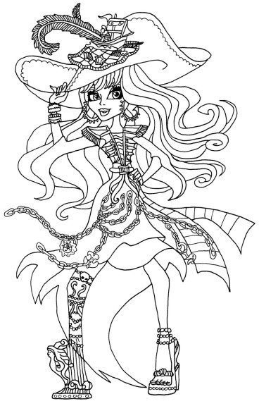 Coloriage pirate Monster High