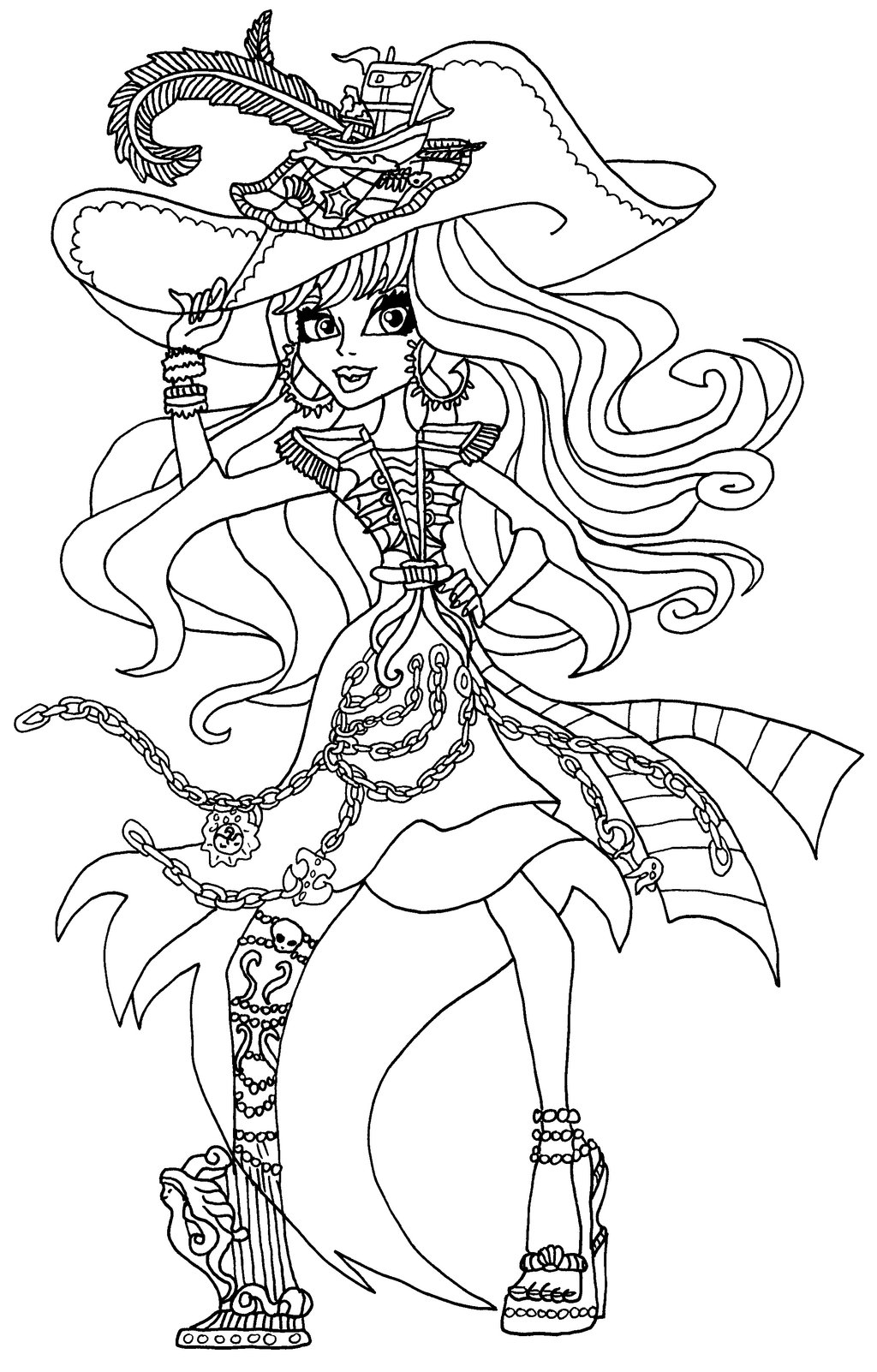 Coloriage Pirate Monster High A Imprimer