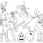 Coloriage reine des neiges halloween