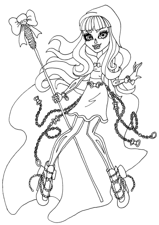 Coloriage Skelita Monster High à imprimer