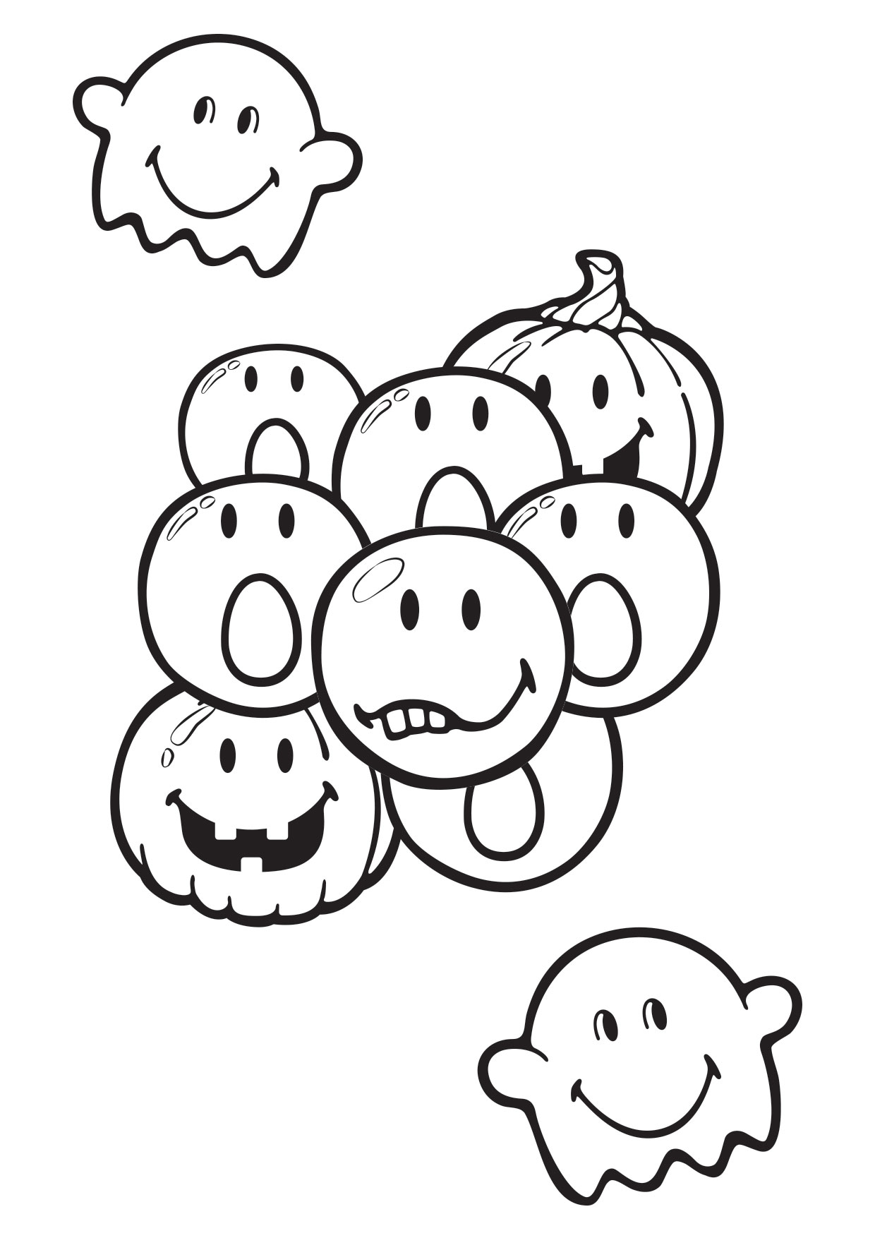 Coloriage smiley halloween imprimer - Image de halloween ...