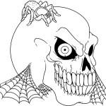 Coloriage squelette tete
