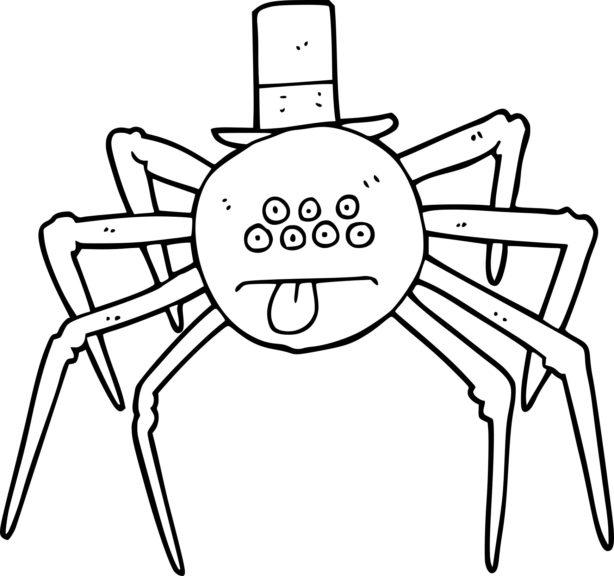 Coloriage araignée Halloween