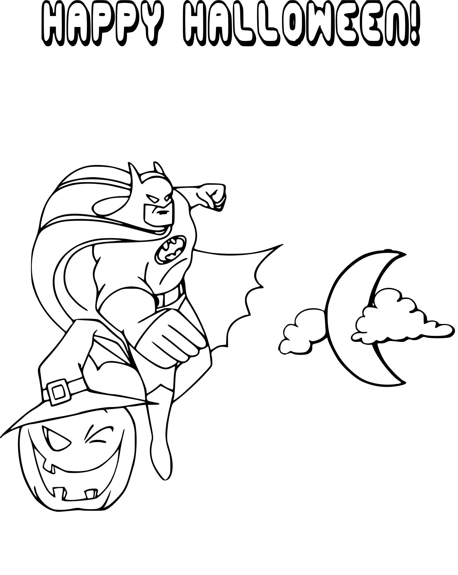 Coloriage Batman Halloween A Imprimer