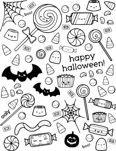 Coloriage Halloween bonbon